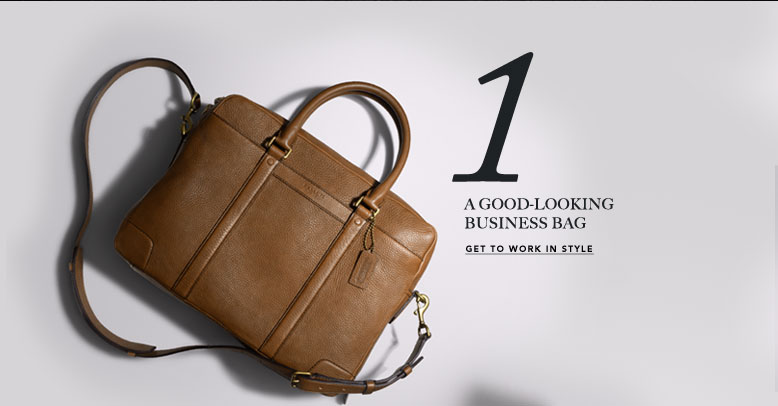 1 A GOOD-LOOKING BUSINESS BAG | GET TO WORK IN STYLE