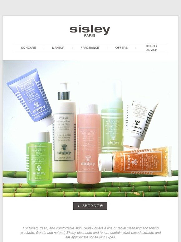Sisley Cosmetics Your Cleansing Routine Milled