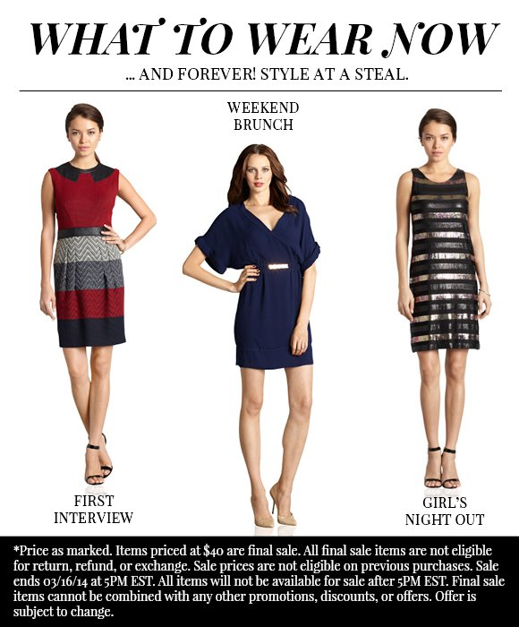 What to Wear Now: $40 Dresses!