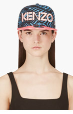 KENZO Blue & Pink Wave Print NEW ERA Edition CAP for women