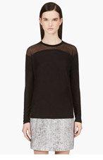 HELMUT LANG Black Semisheer Cashmere Blend Pullover for women