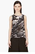 HELMUT LANG Meteor Print Pleat-Neck Tank Top for women