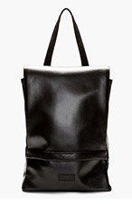 RAD BY RAD HOURANI Black Foil Laptop Backpack for women