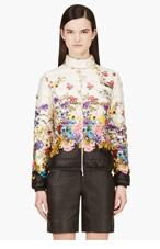 MONCLER Ivory Quilted Down Floral Alisia Jacket for women