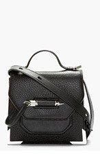 MACKAGE Black Pebbled Leather Rubie Shoulder Bag for women