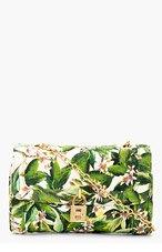DOLCE & GABBANA Green Floral Shoulder Bag for women