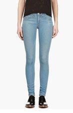 RAG & BONE Blue High-Waisted Skinny Jeans for women