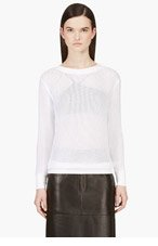 HELMUT LANG White Space Knit Sweater for women