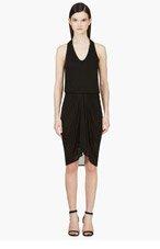 HELMUT LANG Black Jersey Tank Dress for women