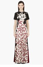 MARC JACOBS Black & Burgundy Silk Jersey Gown for women