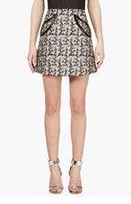 CHRISTOPHER KANE Nude Plasma Print Petal Pocket Mini Skirt for women