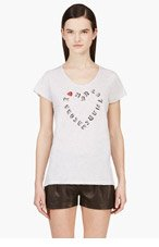 MARC BY MARC JACOBS Heather Grey 'I Heart Marc Jacobs' T-Shirt for women