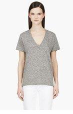 CURRENT/ELLIOTT Grey V-Neck T-Shirt for women