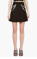 CHRISTOPHER KANE Black Crepe Petal Cut-out Mini skirt for women