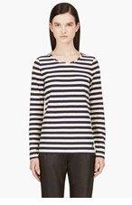 MARC BY MARC JACOBS Ivory & Navy Breton Stripe T-Shirt for women