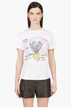 CHRISTOPHER KANE Pink Poppy Diagram Screenprinted T-shirt for women