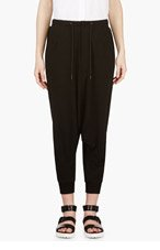 Y-3 Black Cropped Sarouel Pants for women
