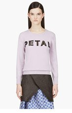 CHRISTOPHER KANE Lilac Cashmere 'Petal' Sweater for women