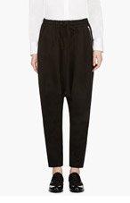 YOHJI YAMAMOTO Black Classic Cropped Sarouel Pants for women