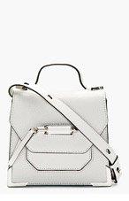 MACKAGE White Pebbled Leather Rubie Shoulder Bag for women
