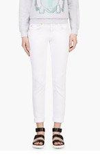 RAG & BONE White The Dre Boyfriend Skinny Jeans for women