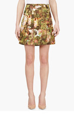 CARVEN Pink & Yellow Havana Printed Skirt for women