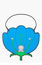 CHRISTOPHER KANE Blue Flower Diagram Purse for women