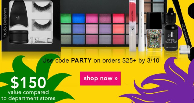 Use Code: PARTY Shop Now!