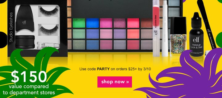 Free Gift! Mardi Gras Party Pack Use Code: PARTY Shop Now!