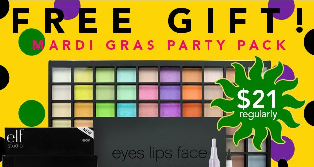 Free Gift! Mardi Gras Party Pack