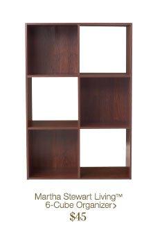 Martha Stewart Living 6-Cube Organizer > $45