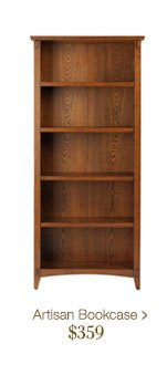Artisan Bookcases > $359