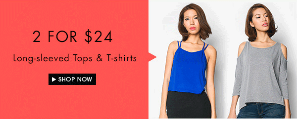 Shop 2 for $24 long-sleeved tops and t-shirts