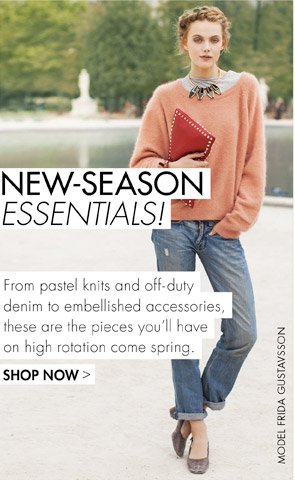 NEW SEASON ESSENTIALS - TRANSITIONAL PIECES TO TAKE YOU UNTIL SPRING