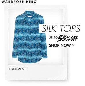 SILK TOPS UP TO 55% OFF