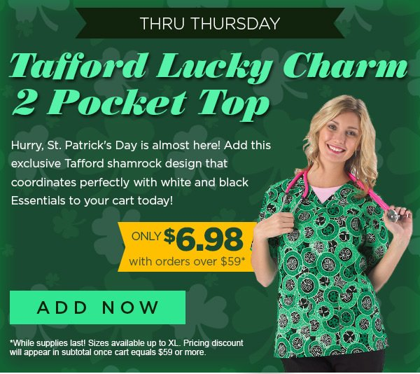 Tafford Lucky Charm 2 Pocket Top only $6.98 with orders over $59 - Add Now