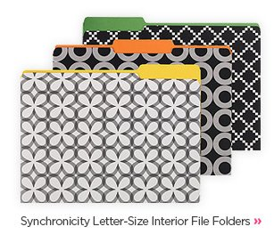 Synchronicity Letter-Size Interior File Folders »