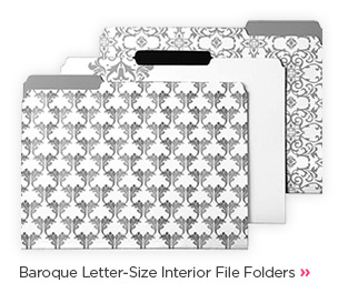 Baroque  Letter-Size Interior File Folders »