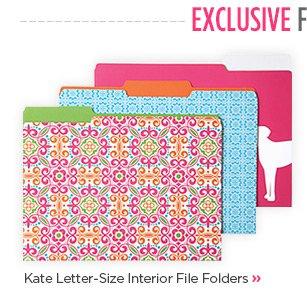 Kate  Letter-Size Interior File Folders »