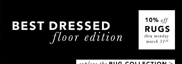 Floor Décor | 10% off Rugs thru March