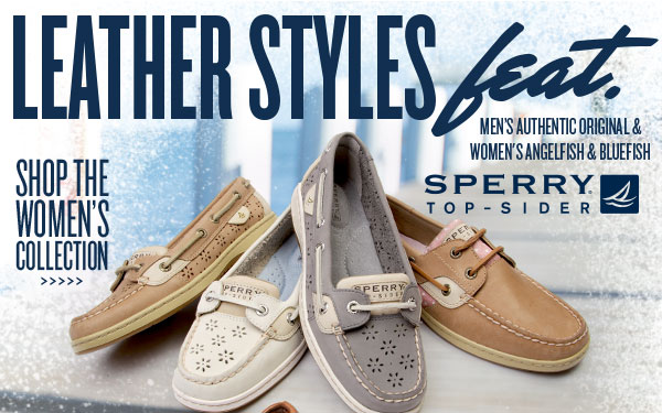 Leather Styles feat. Sperry Top-Sider. Shop womens.