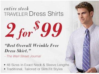 Traveler Dress Shirts - 2 for $99 USD