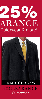 Clearance Outerwear - reduced 25%