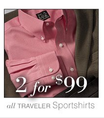 2 for $99 USD - Traveler Sportshirts