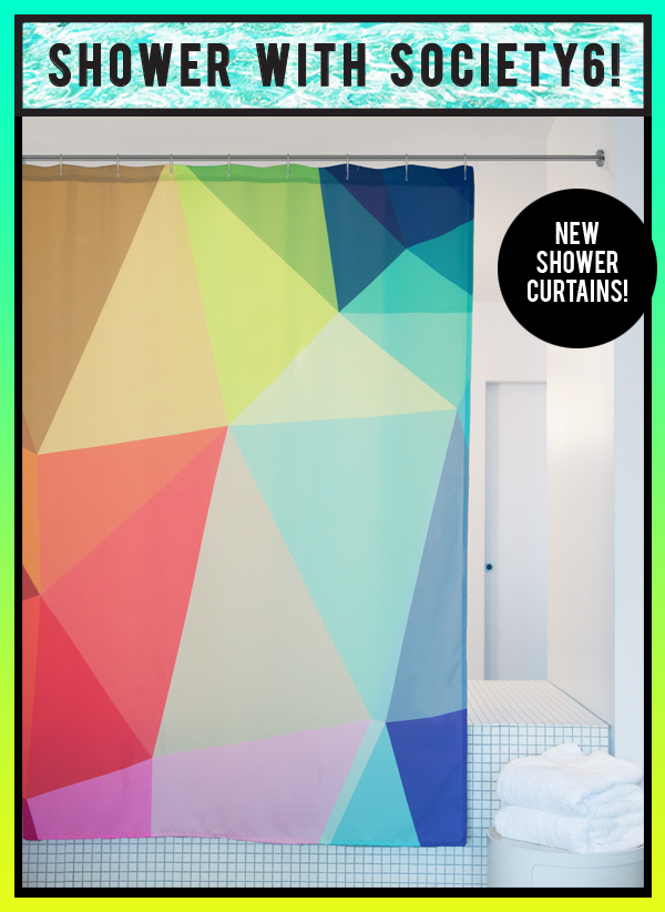 We're pleased to announce the launch of Shower Curtains on Society6!