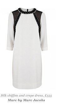 Silk chiffon and crepe dress, £555 Marc by Marc Jacobs