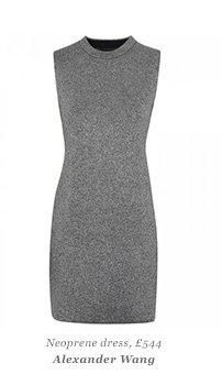 Neoprene dress, £544 Alexander Wang