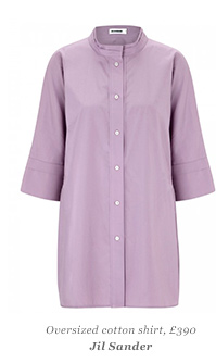 Oversized cotton shirt, £390 Jil Sander