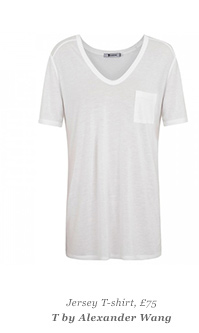 Jersey T-shirt, £75 T By Alexander Wang