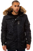 The 31 Nylon Flight Satin Fashion N-4B Parka in Navy